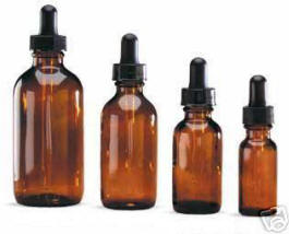 Amber Dropper Bottles